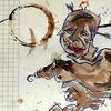 Kaffee, Braun, Mann, Zeichnungen
