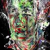 Farben, Punk, Expressionismus, Gesicht