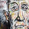 Malerei, Einstein, Ausschnitt