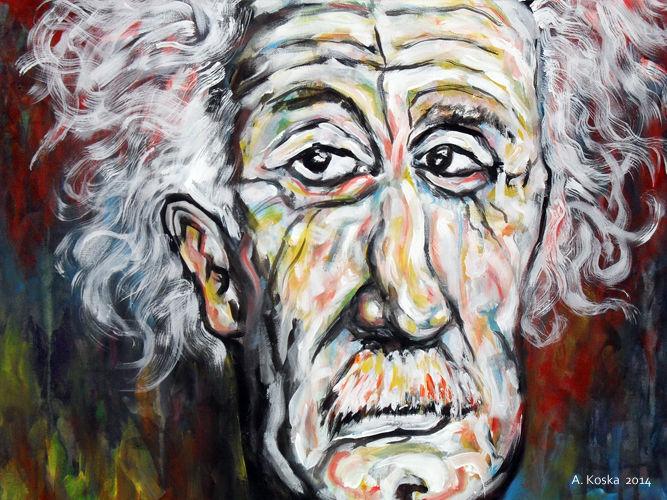 Malerei, Ausschnitt, Einstein