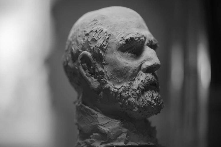 Mann, Portraitbüste, Ton, Skizze, Statue, Kraft