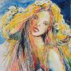 Sinnlichkeit, Mädchen, Malerei, Wild