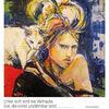 Catwoman, Sinnliches mädchen, Weiße katze, Malerei