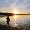Spiegelung, Abend, Wasser, See