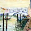 Rialto brücke, Wasserlandschaft, Venedig, Kanal