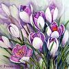 Blumen, Frühling, Frühlingsblüten, Aquarell