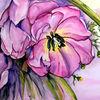 Tulpen, Studie, Blumen, Mischtechnik