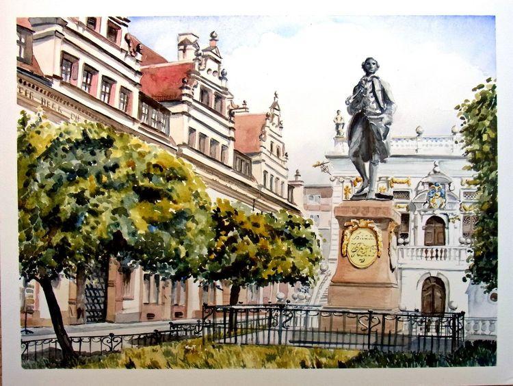 Goethe, Aquarellmalerei, Leipzig, Aquarell