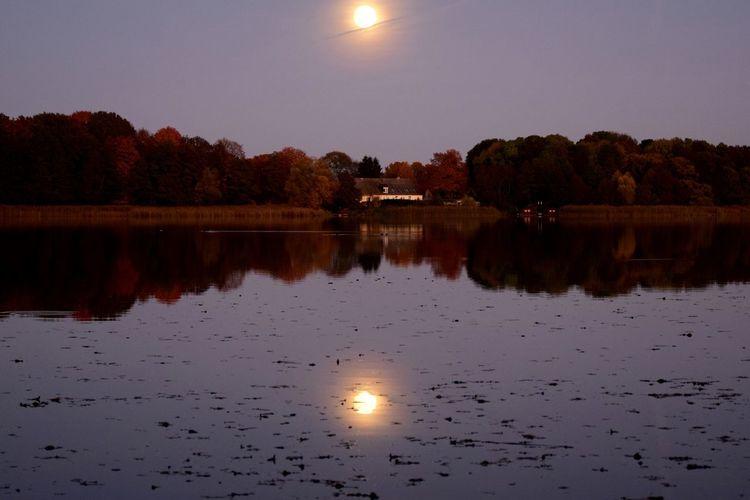 Wasser, Herbstfarben, See, Schweben, Schein, Spiegelung