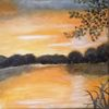 Natur, Sonnenaufgang, See, Ruhe