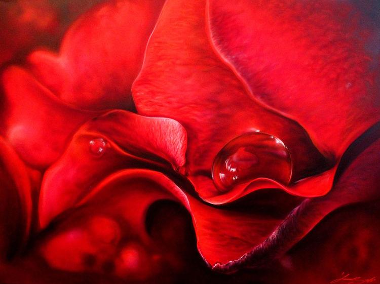 Sprühdose, Rose, Airbrush, Mischtechnik