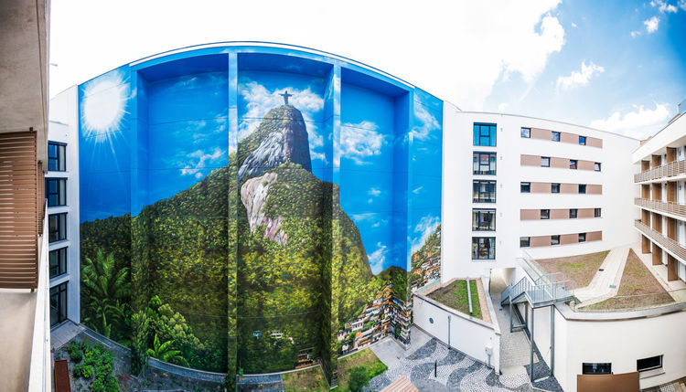 Offenbach, Fassadengestaltung, Sprühdose, Zuckerhut, Malerei
