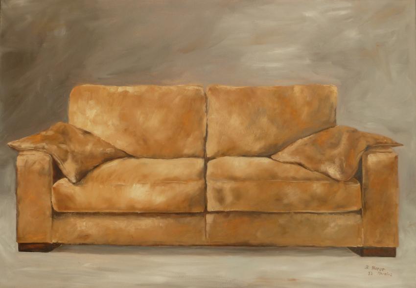 bild sofa braun stillleben sitzen von kaha bei kunstnet. Black Bedroom Furniture Sets. Home Design Ideas