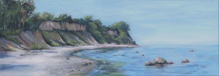 Sand, Wasser, Meer, Stein, Ölmalerei, Strand