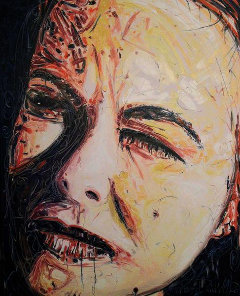 Gesicht, Mans, Malerei,