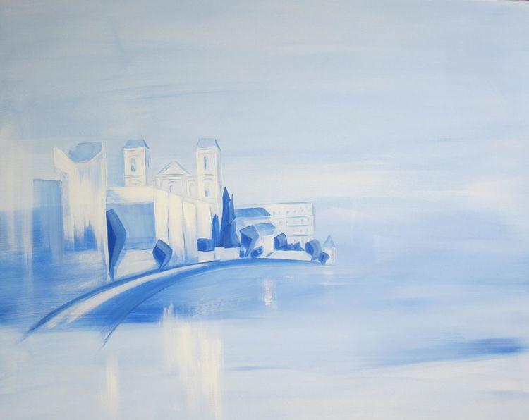 Weiß, Landschaft, Azur, Inn, Expressionismus, Innside