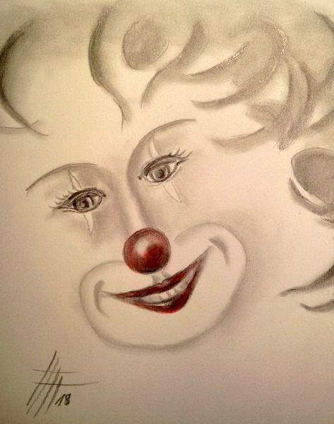 Fasching, Karneval, Clown, Bleistiftzeichnung, Harlekin, Zeichnungen