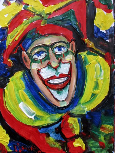 Malerei, Portrait, Clown