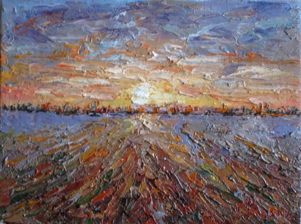 Kunstnet werke malerei landschaften feld