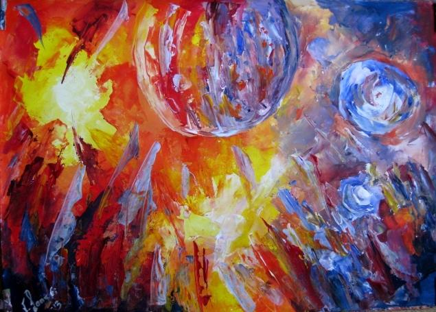 Malerei, Planet, Haus