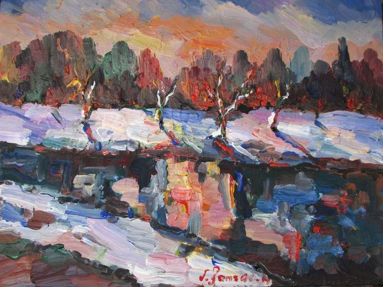 Malerei, Winterlandschaft