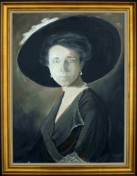 Hut, Portrait, Dame, Adel, Gräfin, Jahrhundertwende