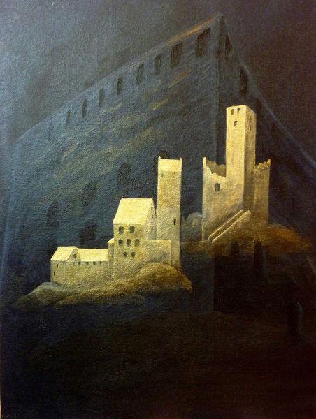 Mystik, Ritterburg, Burg, Ruine, Mittelalter, Ritter