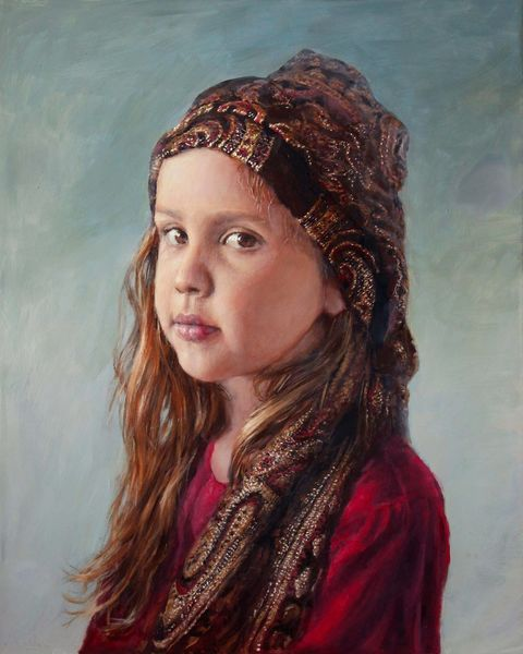 Licht, Realismus, Romantik, Kind, Fotorealismus, Portrait