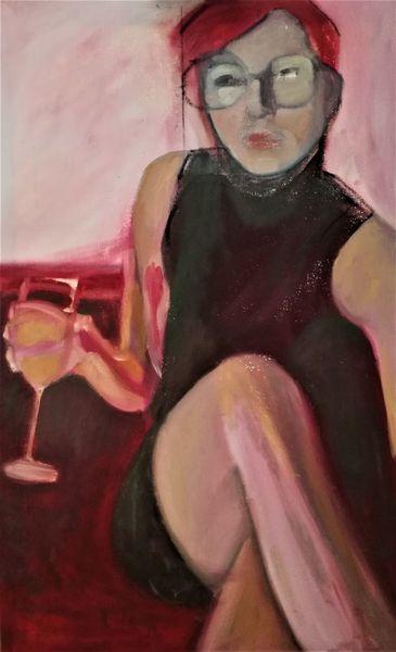 Weiblich, Gegenständlich, Figurativ, Malerei, Arbeit, Entstehung