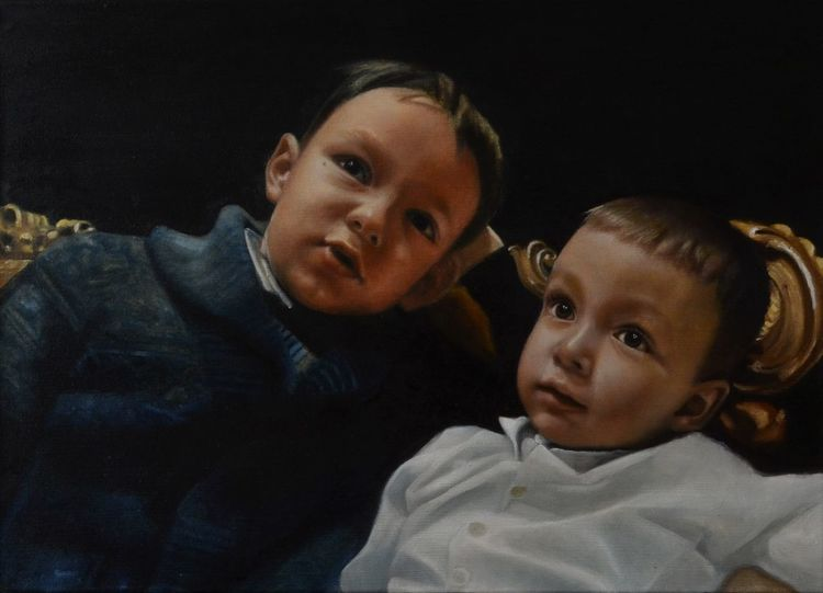 Realismus, Ölmalerei, Portrait, Figurativ, Malerei,