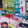 Stadtansichten, Menschen, Stadt, Malerei