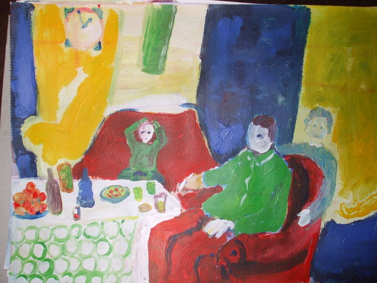Zusammen sein 4, Malerei