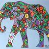 Malerei, Tiere, Elefant