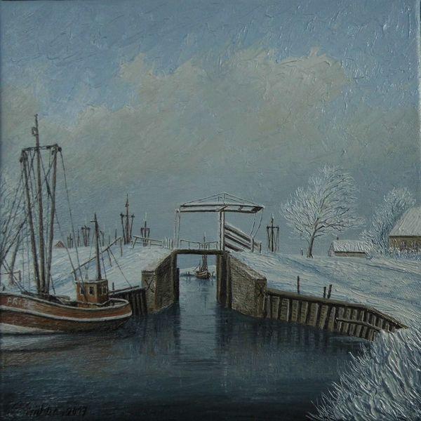 Schnee, Leuse, Norden, Eis, Deich, Winter