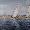 Möwe, Nordseeinsel, Turm, Segelschiff