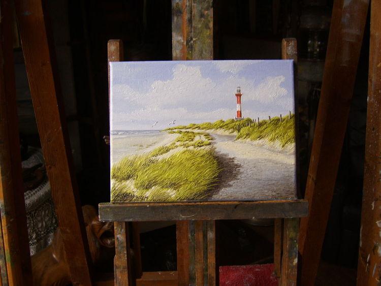 Strand, Insel, Ostfriesland, Wangerooge, Dünen, Malerei