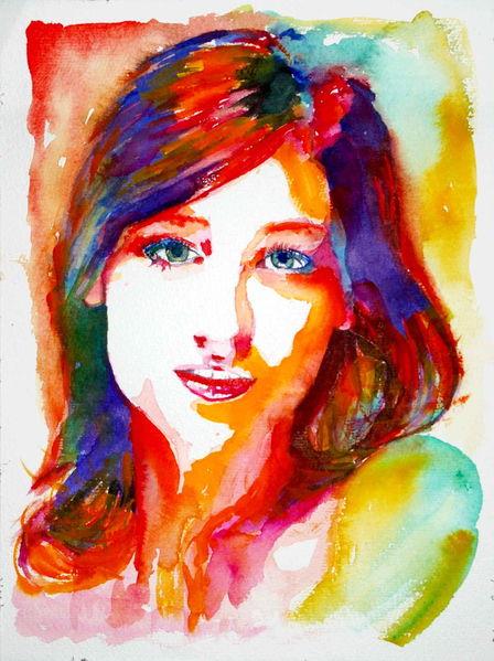 Blick, Portrait, Farben, Frau, Ausdruck, Gesicht