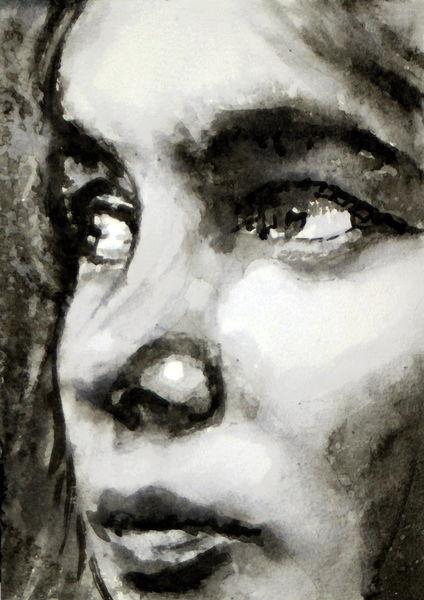 Gesicht, Menschen, Portrait, Frau, Blick, Malerei