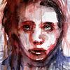 Ausdruck, Aquarellmalerei, Blick, Menschen