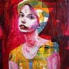 Gesicht, Portrait, Frau, Farben