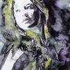 Frau, Haare, Blick, Portrait