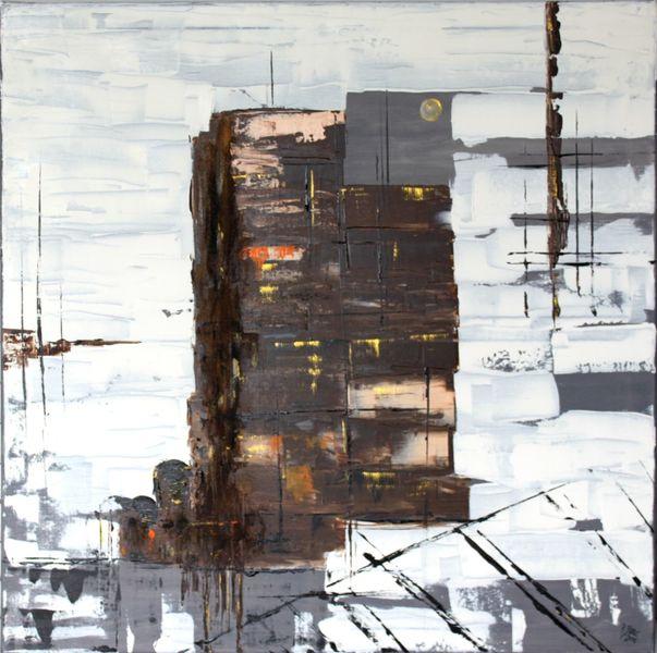 Kultur, Gebäude, Abstrakte kunst, Industrie, Zerfall, Malerei