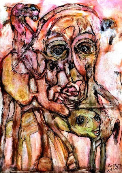 Tiere, Allianz, Menschen, Kreaturen, Gefühl, Zeichnungen