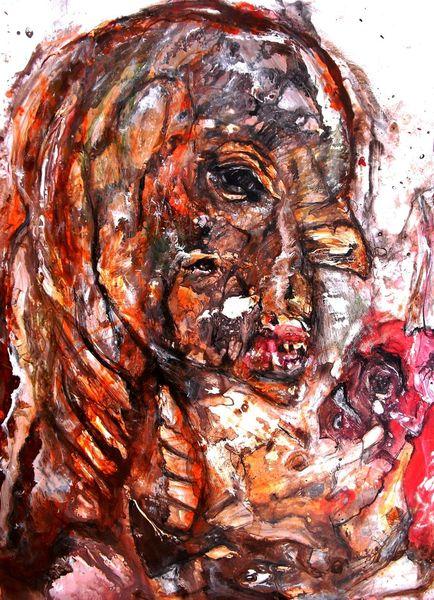 Kopf, Augen, Nase, Mutation, Malerei