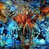 Blau, Gotik, Engelportrait, Malerei