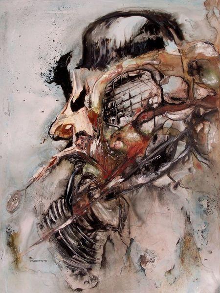 Menschen, Krieg, Korea, Fäulnis, Malerei