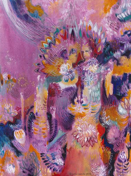 Violett, Blumen, Götter, Bali, Garten, Frieden