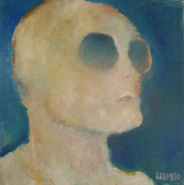 Ölmalerei, Sonnenbrillen, Kopf, Kartoffeln, Malerei