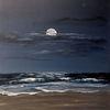 Nacht, Stimmung, Mond, Acrylmalerei