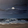 Nordsee, Gemälde, Brandung, Sand